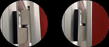 portes pivotantes détails