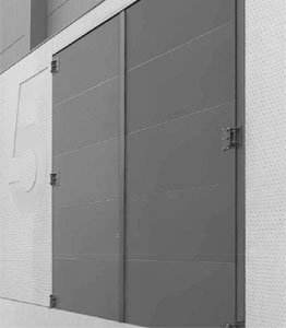 Porte industrielle coupe-feu