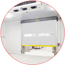porte rapide isotherme enroulable
