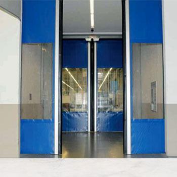 portes rapides à enroulement horizontale