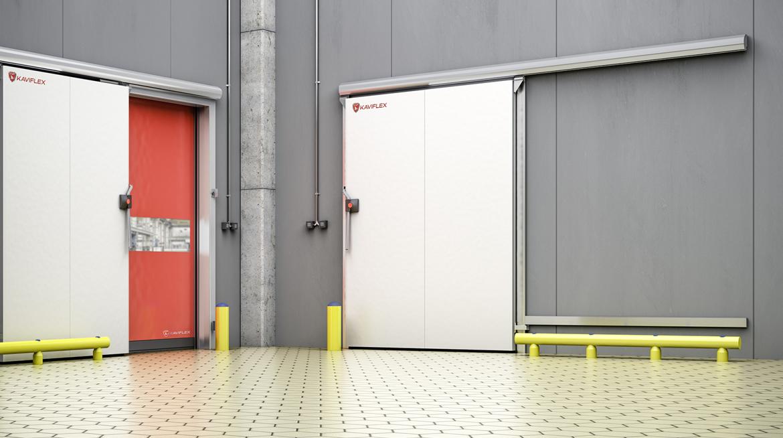 Puerta corredera frigor fica kaviflex - Puerta corredera industrial ...
