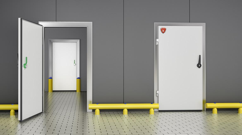 puertas frigorficas puerta pivotante frigorfica puerta_frigorifica_pivotante_blanca - Puerta Pivotante