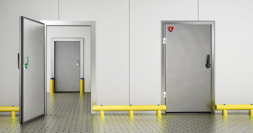 Puerta frigorífica pivotante 3
