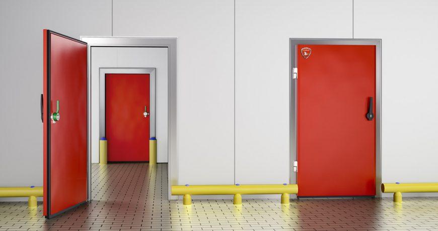 Puerta frigorífica pivotante 2
