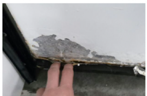 corrosión puerta frigorífica corredera