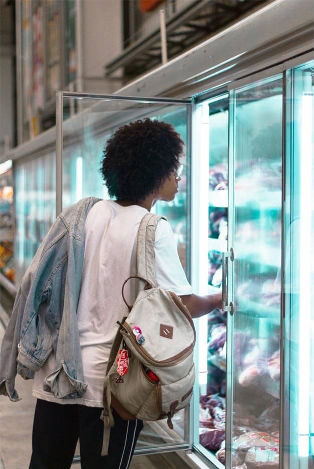 glass doors walk in cooler