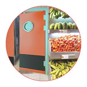 supermarket impact doors