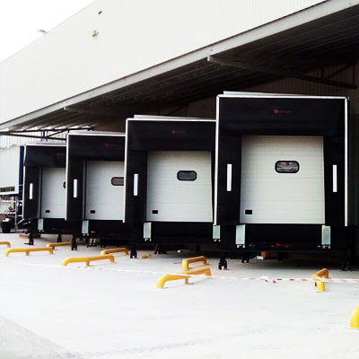 instalación abrigos para muelles de carga