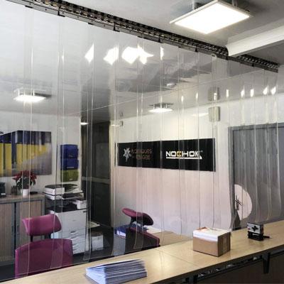cortina de lamas PVC