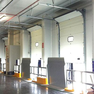 instalación muelles de carga verticales