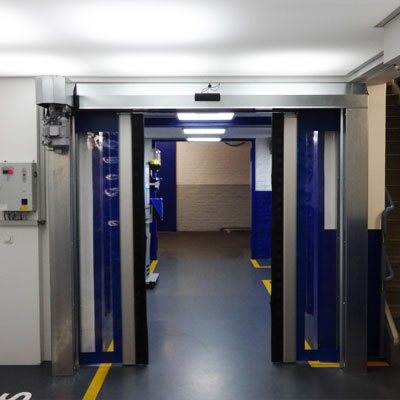 puerta horizontal enrollable
