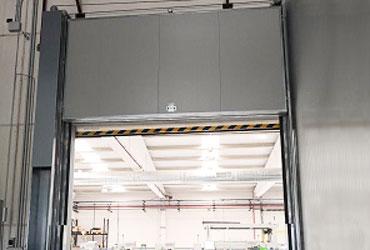 puerta guillotina industrial contra incendios