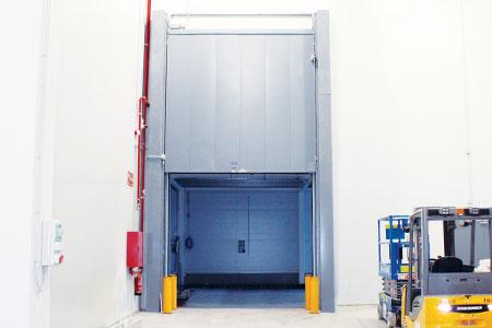 puerta guillotina para cámaras frigoríficas