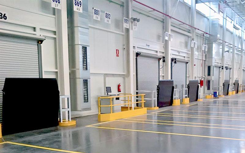 rampa vertical para muelle de carga