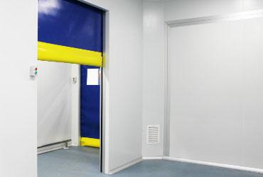 puerta rápida enrollable simple