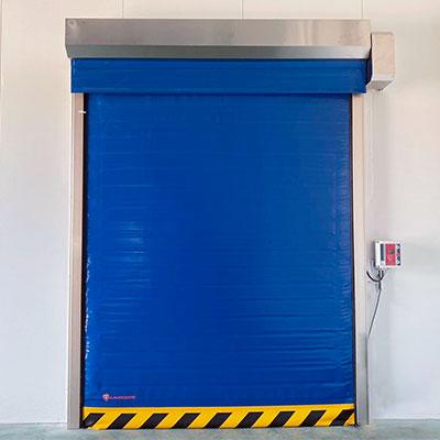 puerta rápida de doble lona