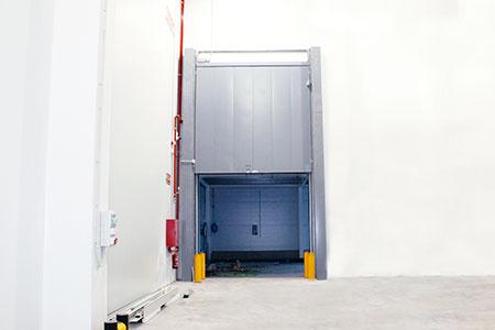 puerta contraincendios guillotina