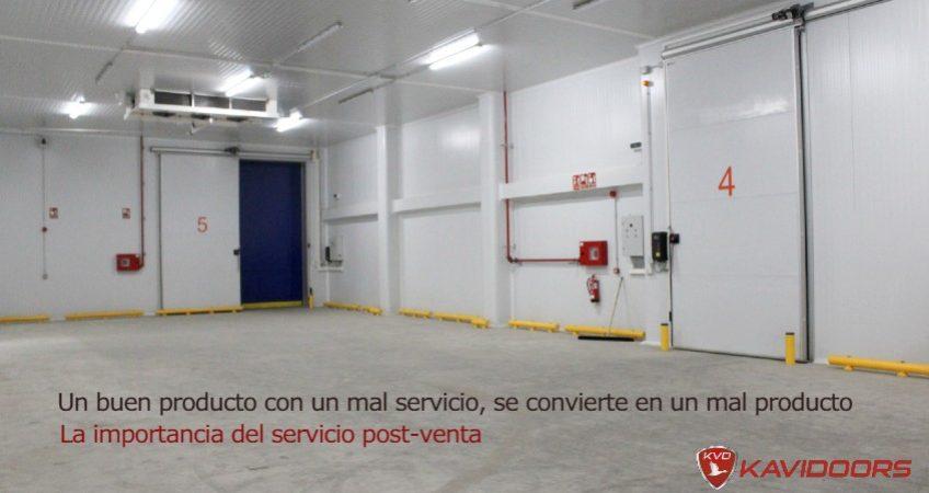 Servicio post venta puertas frigorificas