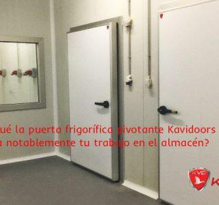 Puertas pivotantes para cámaras de frío industrial